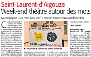 Article des mots pour dire Midi Libre site 17-03-2019