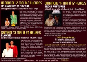 flyer 2éme Rencontres Gardoises du Théâtre Amateur 05-2017 recto