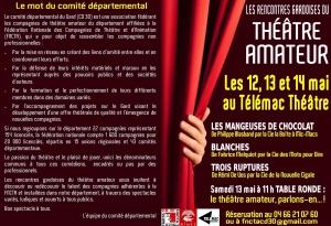 flyer 2éme Rencontres Gardoises du Théâtre Amateur 05-2017 verso